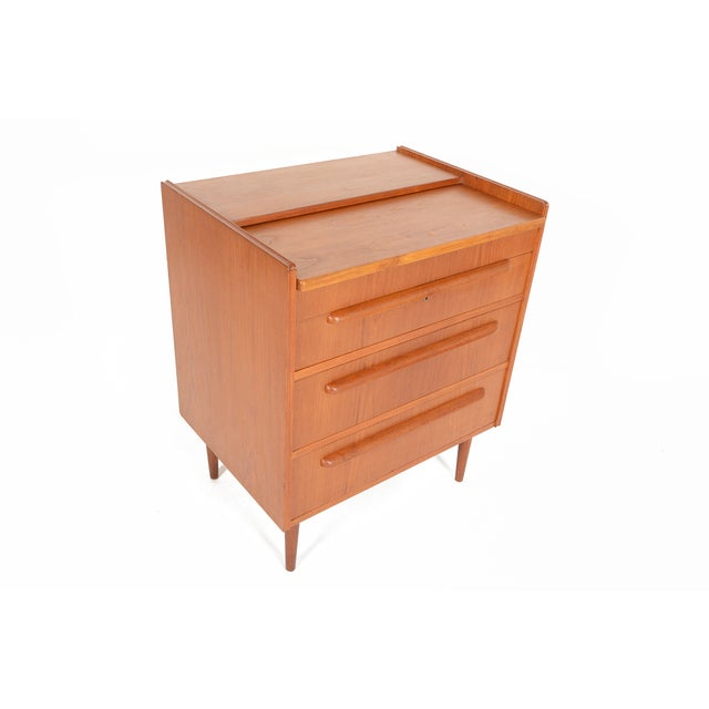 Danish Modern Teak Vanity Dresser - Image 2 of 10
