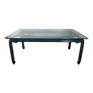 Vintage Raymond Sobota Asian Chinoiserie Lacquered Dining Table For Sale