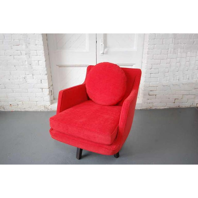 Mid-Century Modern Fully Restored Swivel Chair by Edward Wormley For Sale - Image 3 of 10