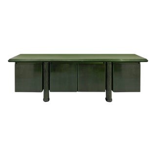 Italian Postmodern Stained and Lacquered Credenza For Sale