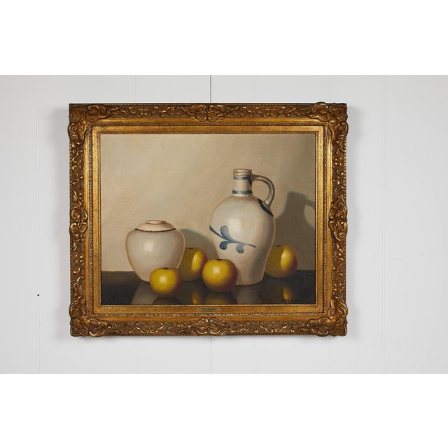 Metal Pair of 19th Century Still Life Oil Paintings For Sale - Image 7 of 13