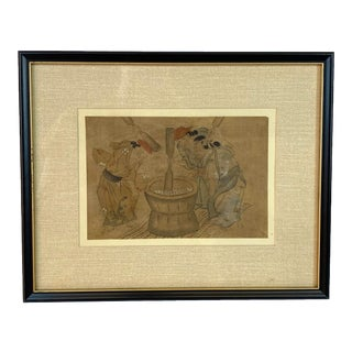Antique Original Japanese Ukiyo-E Woodblock Print For Sale