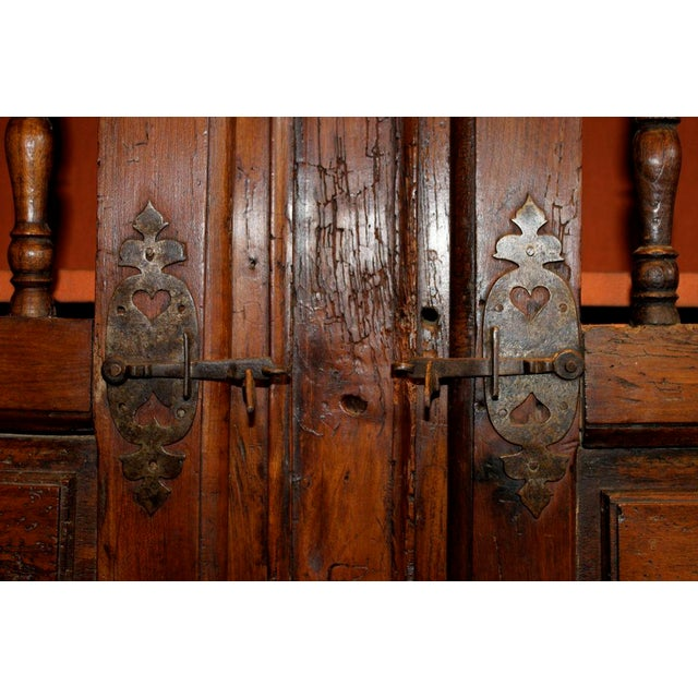 Mid 19th Century 19th Century French Walnut 4 Door Cabinet For Sale - Image 5 of 11