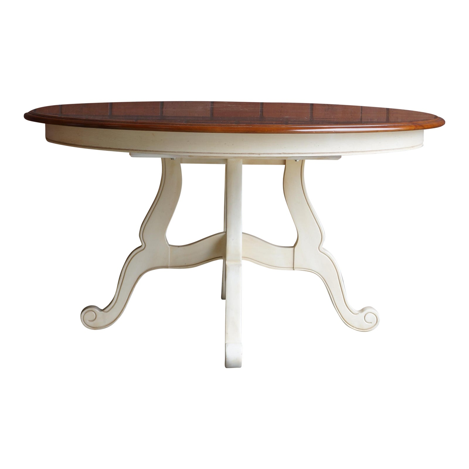 Ethan Allen New Country Coffee Table: Ethan Allen Country French Birchwood Dining Table
