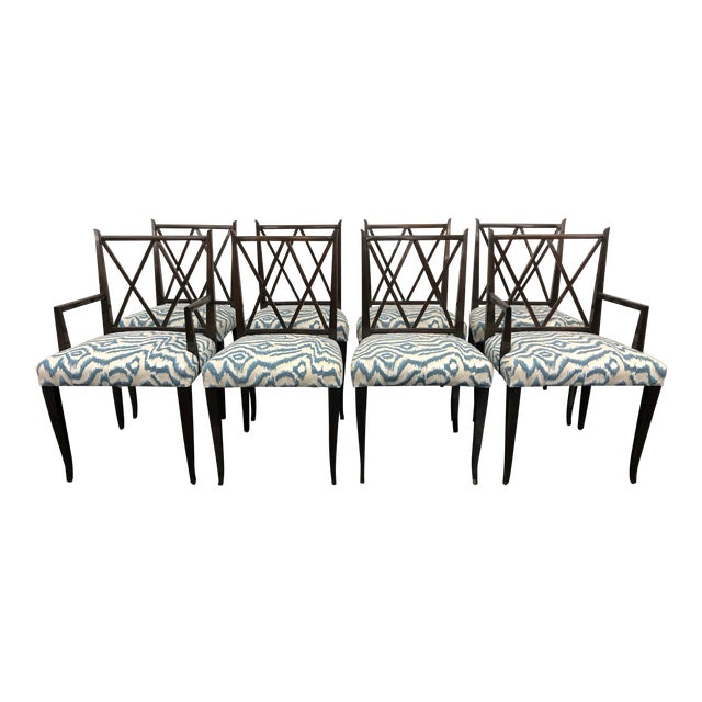 20th Century Tommi Parzinger Dining Chairs- Set of 8 For Sale
