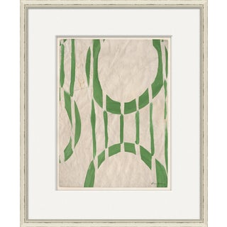 """Circle Series - Green"" By Dana Gibson, Framed Art Print"