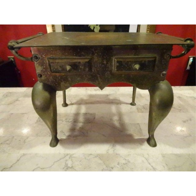 Small Brass Side Table - Image 2 of 4