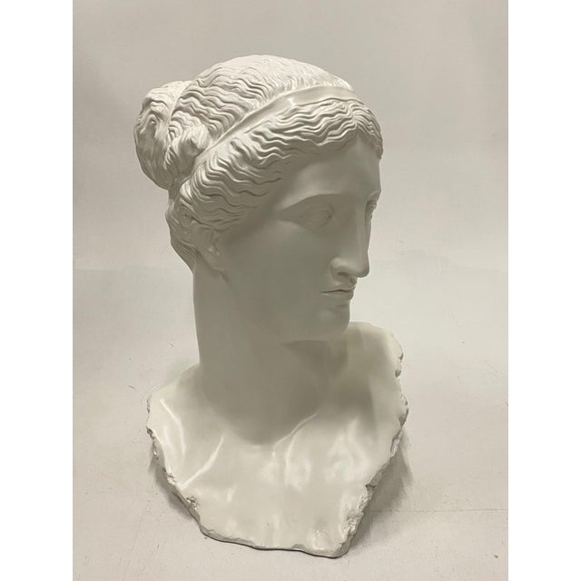 Romantic Fiberglass Bust of Diana, Sculpture For Sale - Image 13 of 13