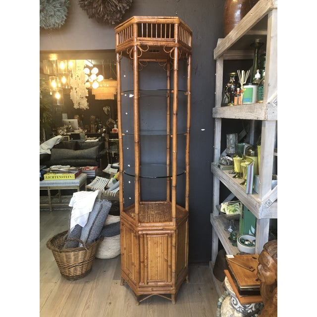 Vintage Boho Chic Bamboo Etagere For Sale - Image 9 of 9