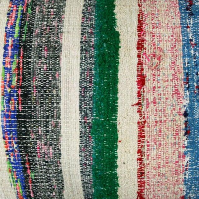 """Cotton Kilim Lumbar Pillow   16x24"""" - Image 2 of 2"""