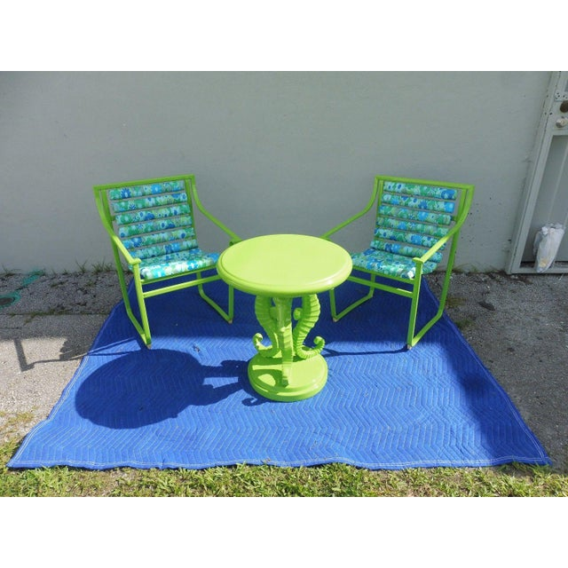 1960s 60's Vintage Samsonite Wrought Iron Patio Set For Sale - Image 5 of 12