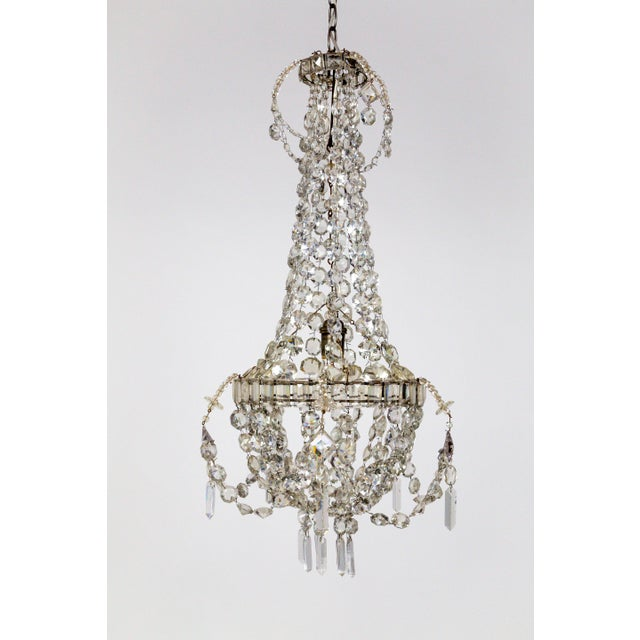 Delicate Crystal & Wire French Regency Tent Chandelier For Sale - Image 13 of 13