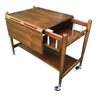 Danish Modern Drop Leaf Tea Trolley For Sale