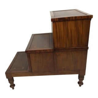 English Regency Mahogany Step Stool