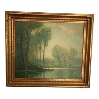 Vintage A. D. Greer Original Oil Painting, Framed For Sale
