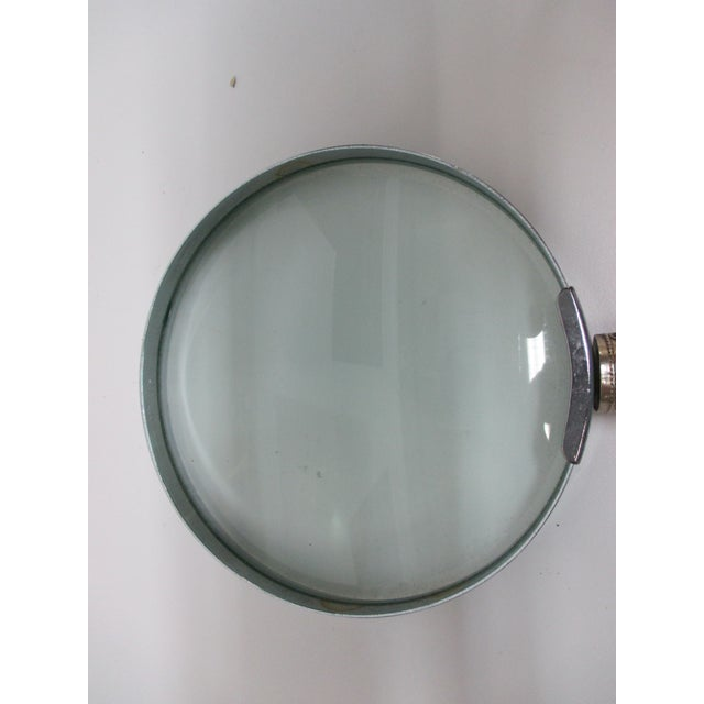 Round Bakelite & Chrome Magnifying Reading Glass For Sale - Image 4 of 6