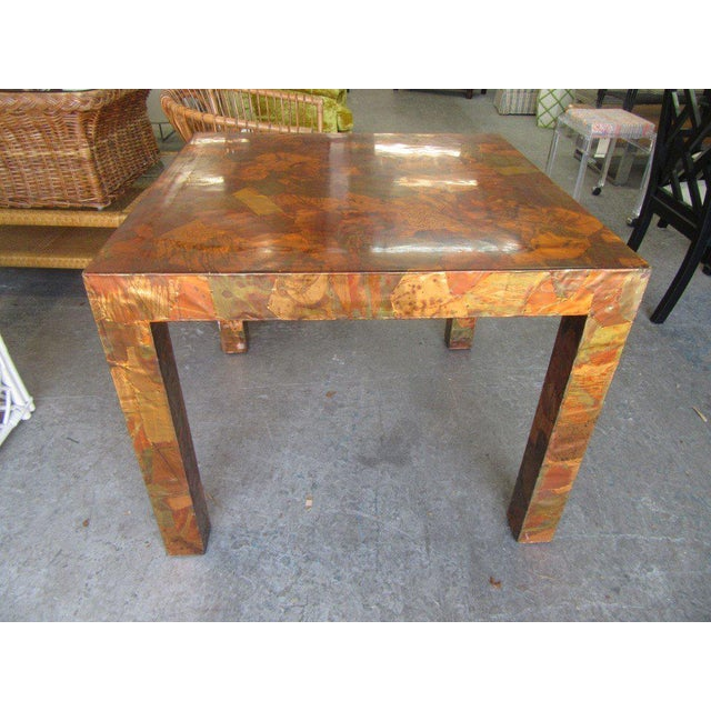 Paul Evans Paul Evans Style Copper Game Table For Sale - Image 4 of 6