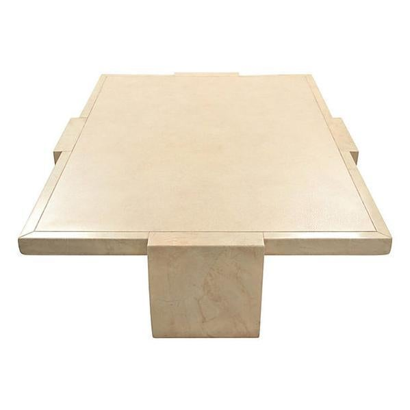 Baker Ming Leather Coffee Table - Image 2 of 7