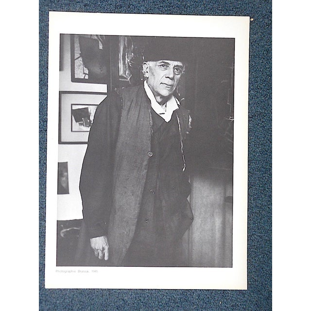 Georges Braque Vintage Photogravure of Famous French Mid Century Modern French Artist Georges Braque-From Derriere Le Miroir For Sale - Image 4 of 4