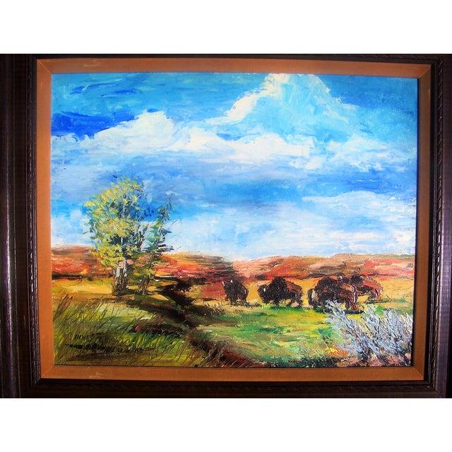 1965 Plein Air Buffalo Landscape Painting - Image 3 of 4