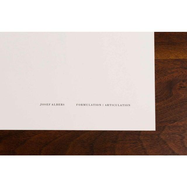 Josef Albers Diptych Silkscreen No. 6 Portfolio II For Sale - Image 5 of 6
