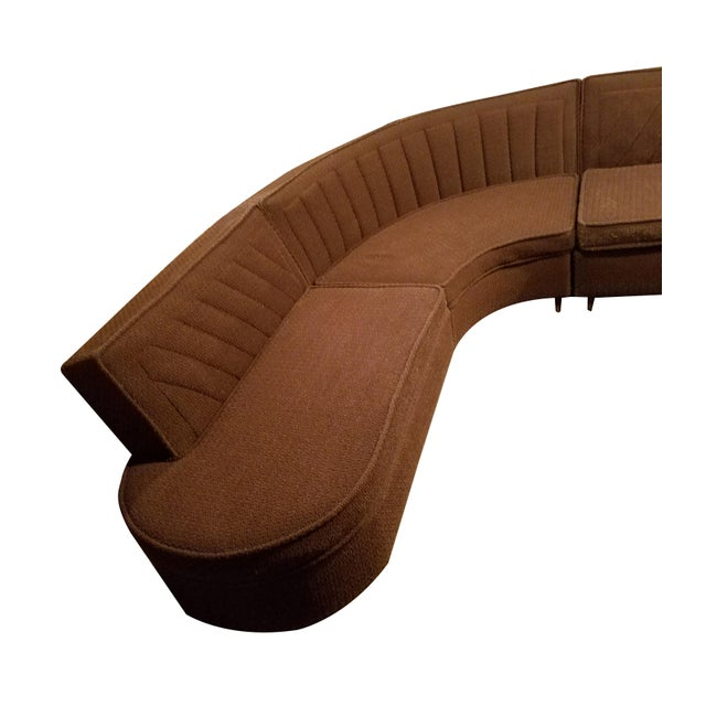 Manufactured by Nelson of Kingston Inc, this mid century modern sectional / sofa is in great vintage condition. The...