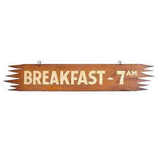 Vintage Breakfast 7 Am Sign For Sale