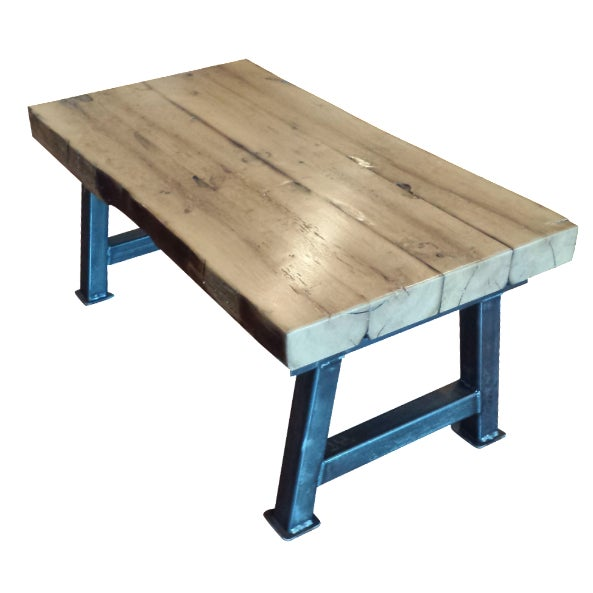 Industrial Reclaimed White Oak Coffee Table - Image 1 of 7