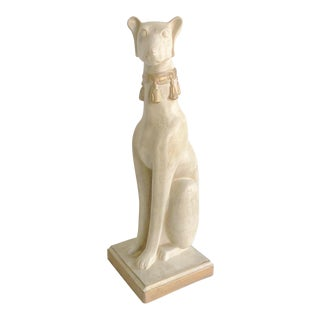 Vintage Ceramic Whippet Dog With Tassel Collar For Sale