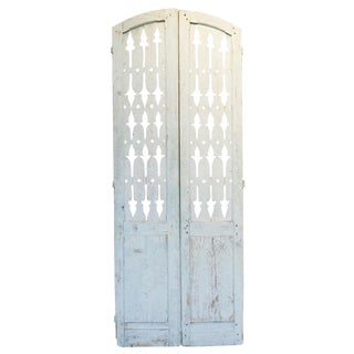 19th Century Antique French Shutter Doors - a Pair For Sale