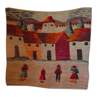 Vintage Peruvian Woven Wall Hanging For Sale
