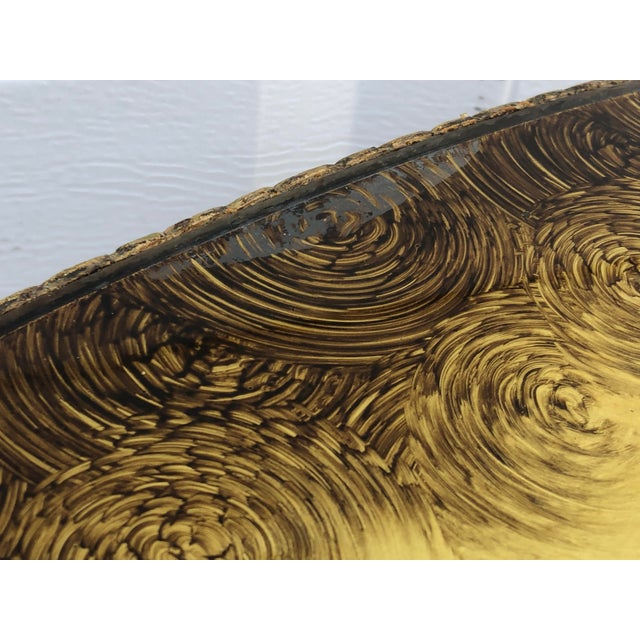 Vintage Circular Coffee Table in Gold Finish For Sale - Image 9 of 13
