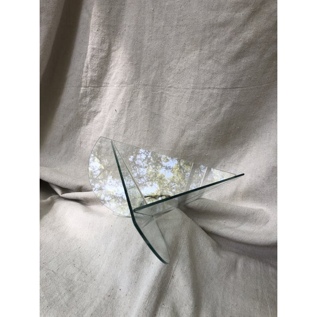 Late 20th Century 20th Century Postmodern Glass Triangle Decorative Bowl For Sale - Image 5 of 5