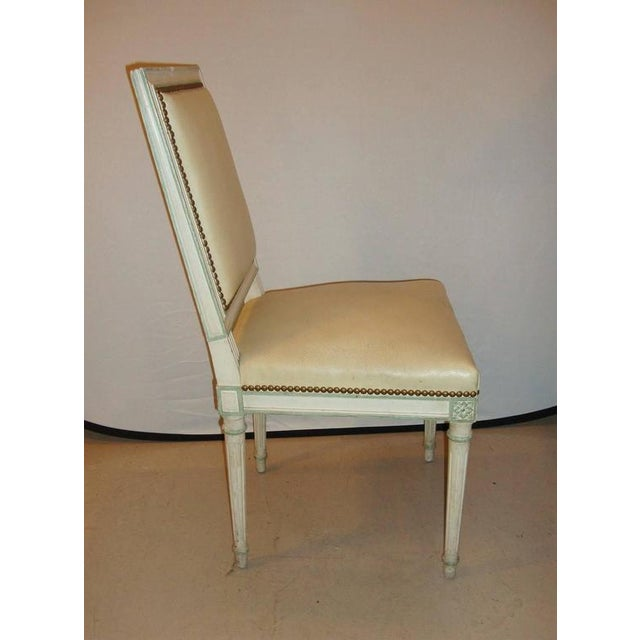 Hollywood Regency Maison Jansen Paint Decorated Side Chair For Sale - Image 3 of 7