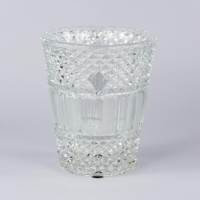 French Cut Crystal Champagne Bucket, 20th Century - Image 3 of 11