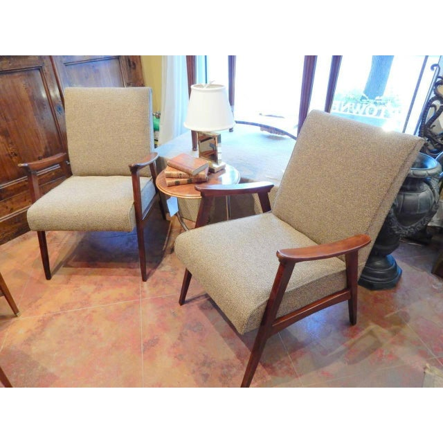 Pair of Vintage Armchairs, French, 1950s For Sale In New Orleans - Image 6 of 8