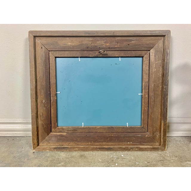 19th Century English Bird's-Eye Maple Frame With Mirror For Sale - Image 5 of 6