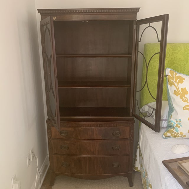 Early 20th Century Antique Mahogany China Display Cabinet For Sale - Image 5 of 13