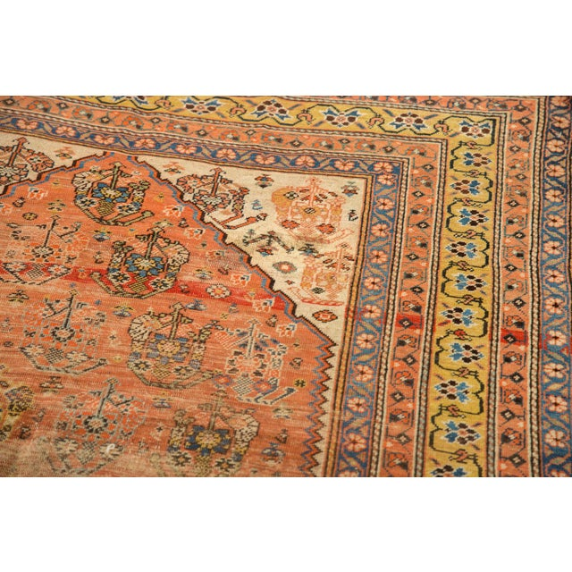 """Antique Qashqai Rug - 4'11"""" X 6'4"""" For Sale - Image 11 of 13"""