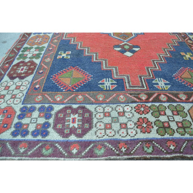Vintage Turkish Handmade Rug - 4′1″ × 7′8″ - Image 5 of 6