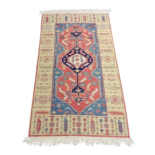 Hand Made Geometric Medallion Rug 3′1″ × 5′6″ For Sale