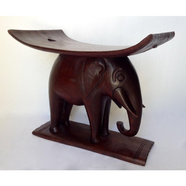 1920s Vintage African Ghana Elephant Ashanti Bench For Sale - Image 4 of 11