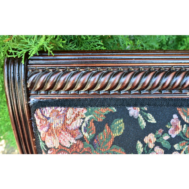 19th Century Antique Victorian Eastlake Mahogany Rocking Chair New Upholstery For Sale - Image 4 of 13