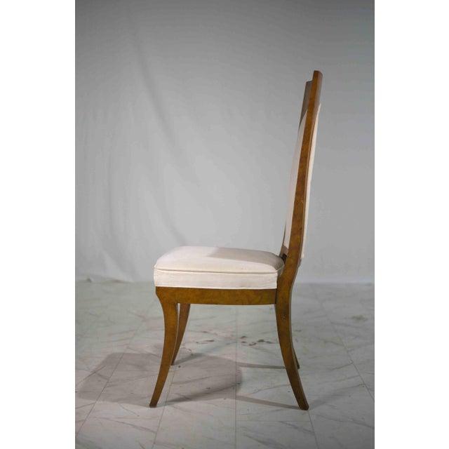 Mastercraft 1960s Hollywood Regency Amboyna Wood Dining Chairs by Mastercraft - Set of 6 For Sale - Image 4 of 13
