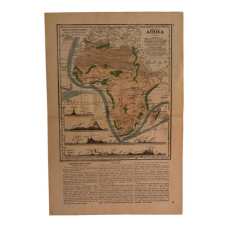 "Antique Geography Map ""Africa"" Sheldon & Company 1867 For Sale"