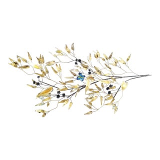 Curtis Jere Mid Century Modern Butterfly Tree Branch Wall Sculpture For Sale