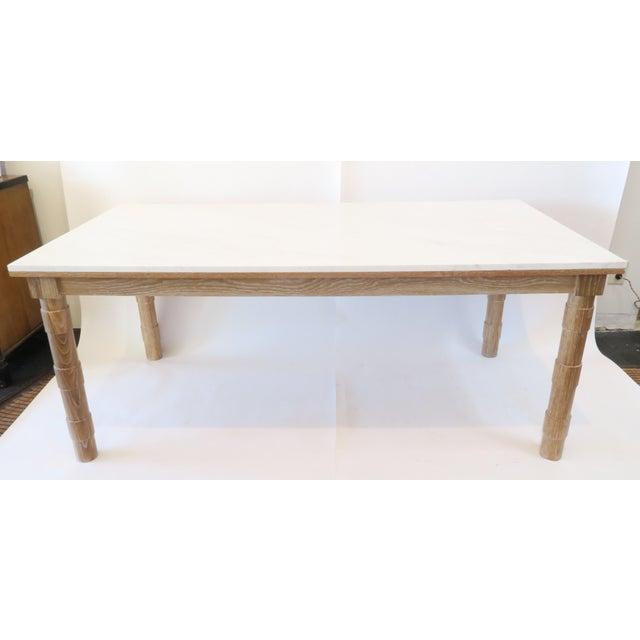 Martin & Brockett Cersued Oak & Marble Dining Table - Image 2 of 6