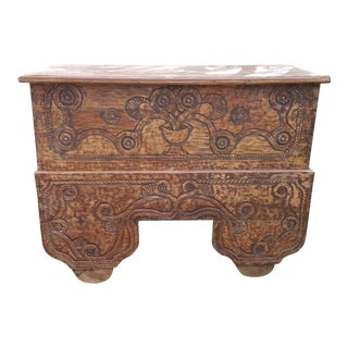 Antique Balinese Storage Trunk For Sale
