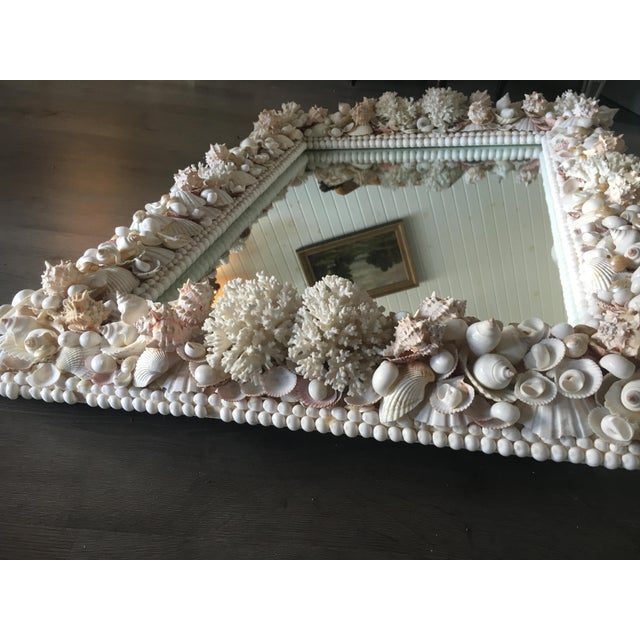 Exceptional Grotto Mirror, Great Attention Paid to Detail From a Promenate Florida Estate. For Sale - Image 10 of 11