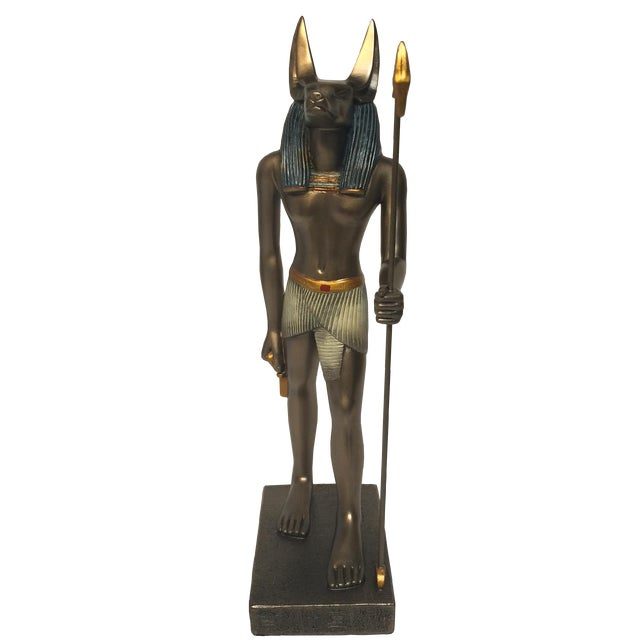 Egyptian Bronze Resin Sculpture - Image 1 of 8